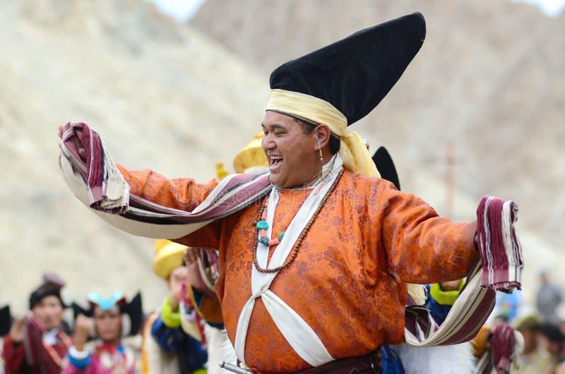 Artiste sur le festival de l'héritage de Ladakh images libres de droits