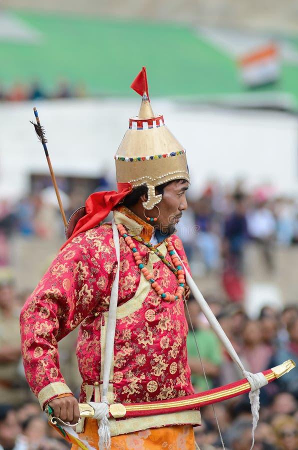 Artiste sur le festival de l'héritage de Ladakh image libre de droits