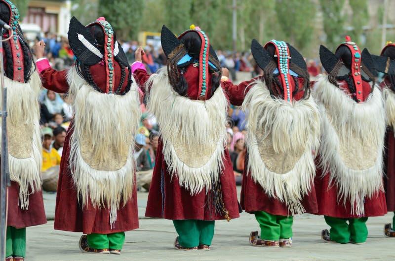 Artiste sur le festival de l'héritage de Ladakh images stock