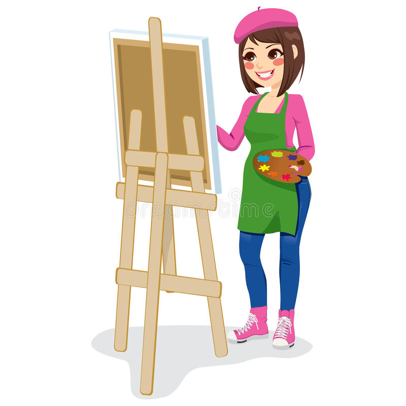 Artiste Woman de peintre illustration libre de droits