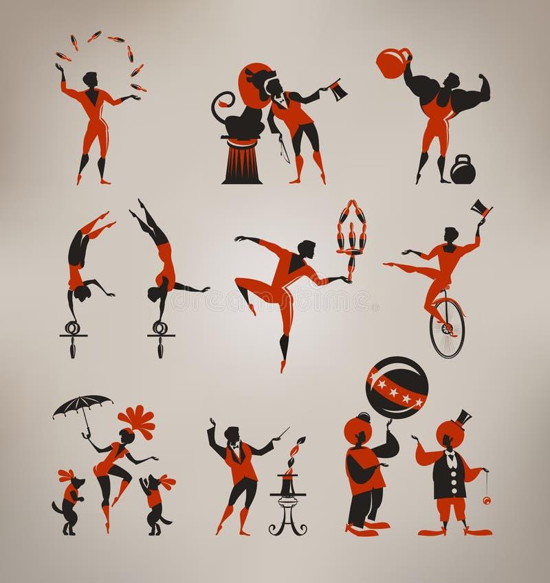 Artistes de cirque illustration stock