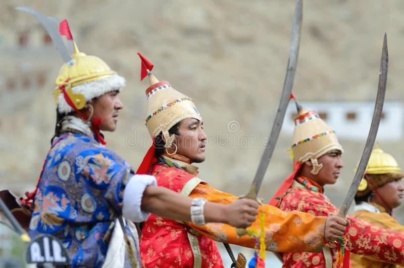 Artistes sur le festival de l'héritage de Ladakh image libre de droits
