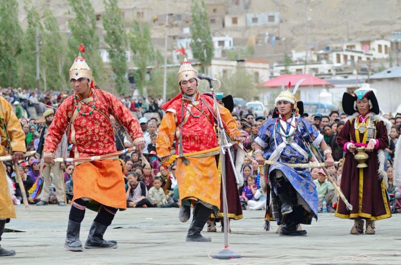Artistes sur le festival de l'héritage de Ladakh photos stock