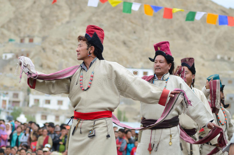 Artistes sur le festival de l'héritage de Ladakh photographie stock