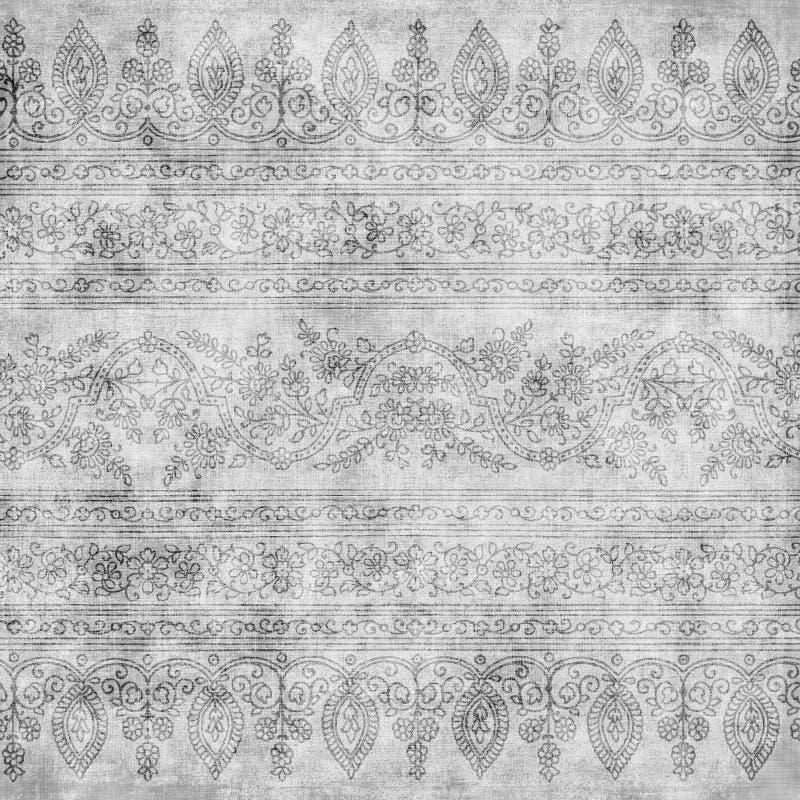 artisti背景花卉蜡染布设计 向量例证