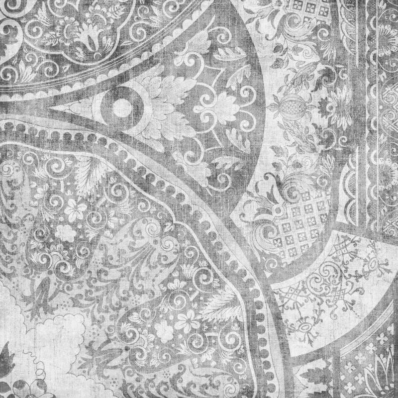 Artisti Batik-Blumenauslegung-Hintergrund stock abbildung