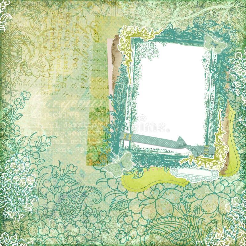 Artisti Batik Floral Design Frame Background