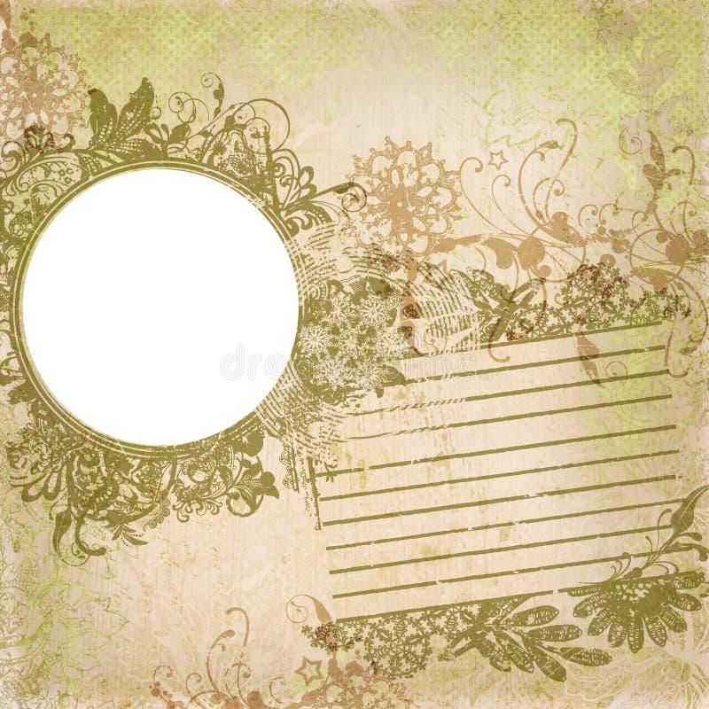Artisti Batik Floral Design Frame Background royalty free illustration