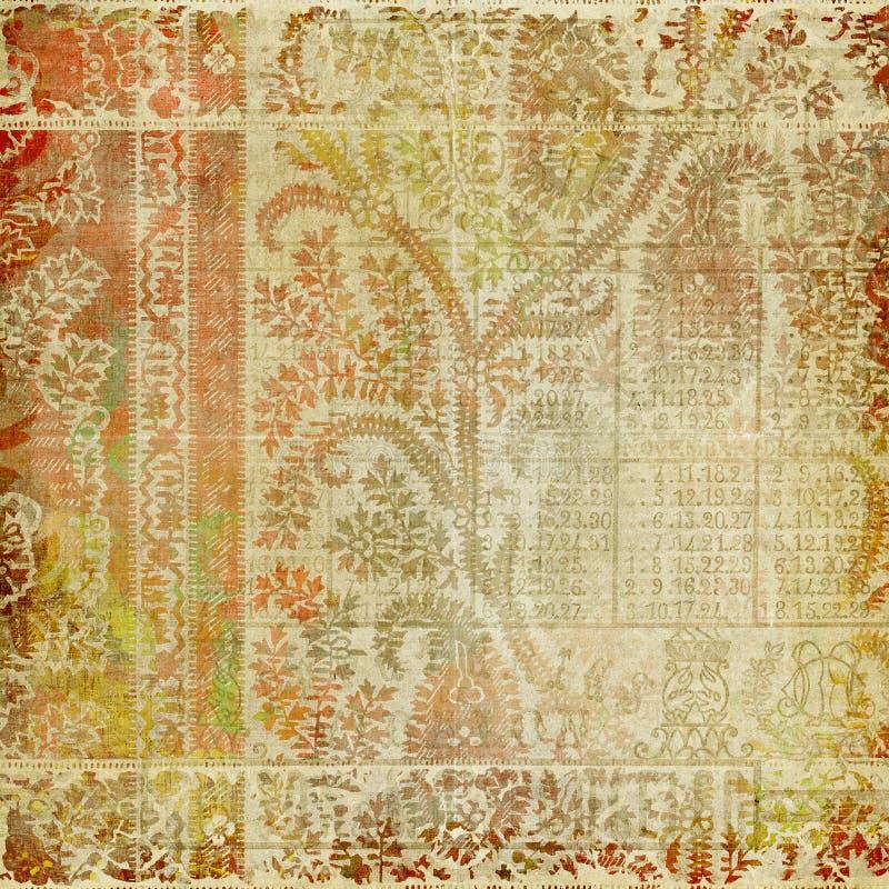 Artisti Batik-Paisley-Auslegung-Hintergrund lizenzfreie abbildung