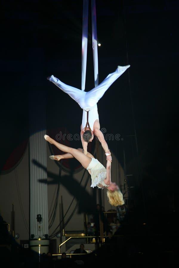Artisti del circo immagini stock