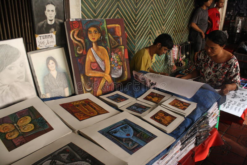 Artisti della via fotografia stock