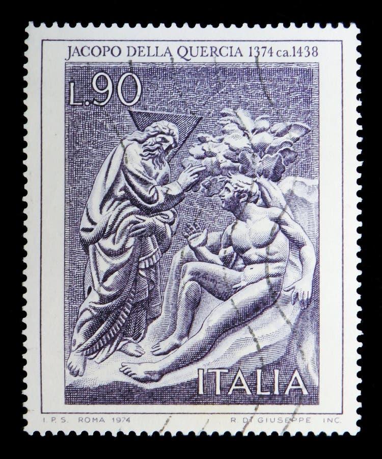 Artisti italiani, Jacopo Della Quercia, serie, circa 1974 fotografie stock libere da diritti