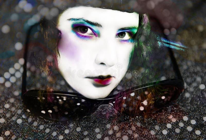 Artisti Make up Creative Fashion Influencer Portrait royalty free stock photo
