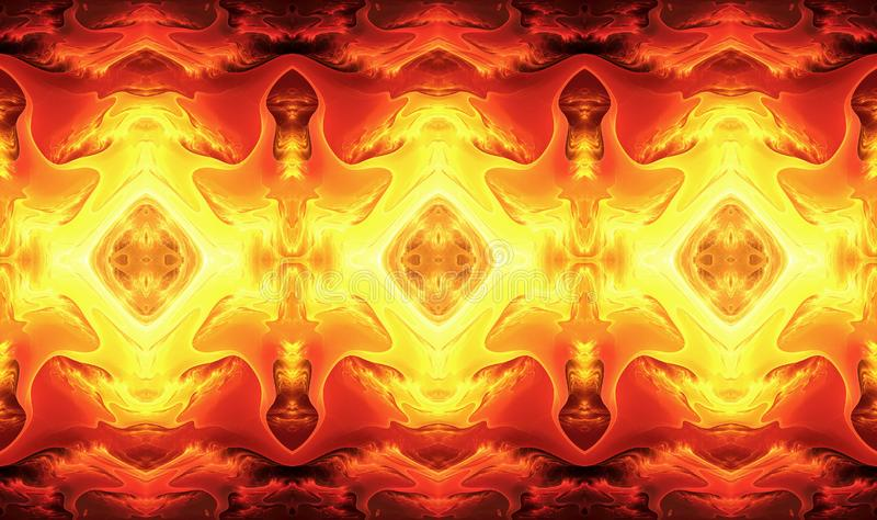 Abstract 3d computer generated artistic unique glowing lava fractals artwork royalty free illustration