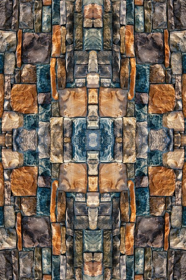 Artistic abstract multicolored rocks pattern as a wall texture royalty free stock images