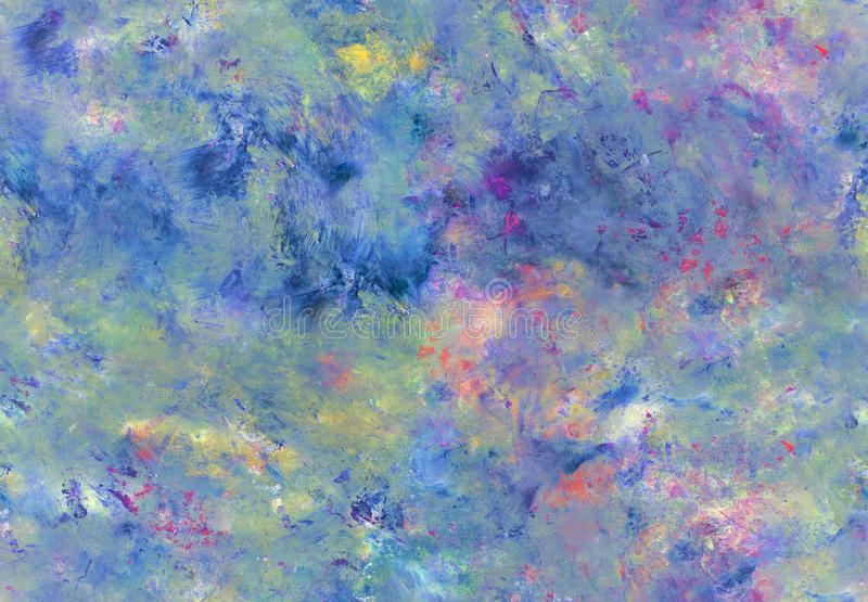 Artistic abstract painting seamless pattern. Hand painted acrylic seamless pattern with abstract brushstrokes. Art painting. Grunge texture for textiles royalty free stock photography