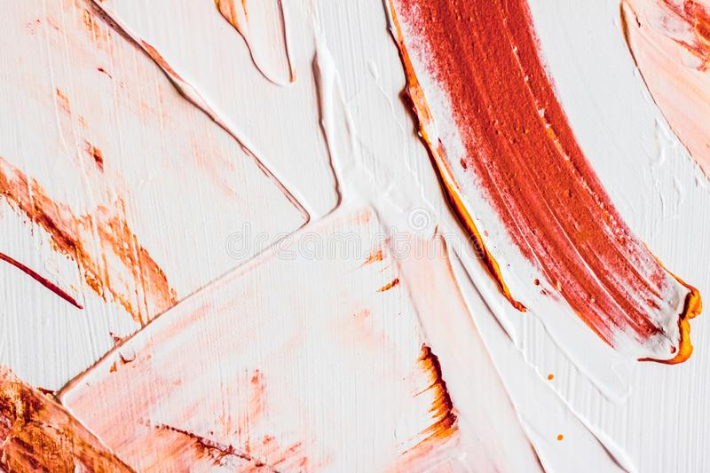 Artistic abstract texture background, orange acrylic paint brush stroke, textured ink oil splash as print backdrop for luxury stock photos