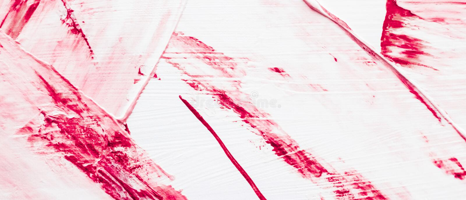 Artistic abstract texture background, pink acrylic paint brush stroke, textured ink oil splash as print backdrop for luxury stock image