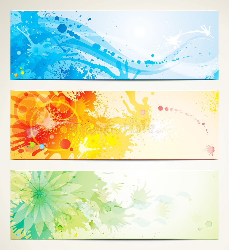 Download Artistic Banners stock vector. Illustration of dynamic - 24402231