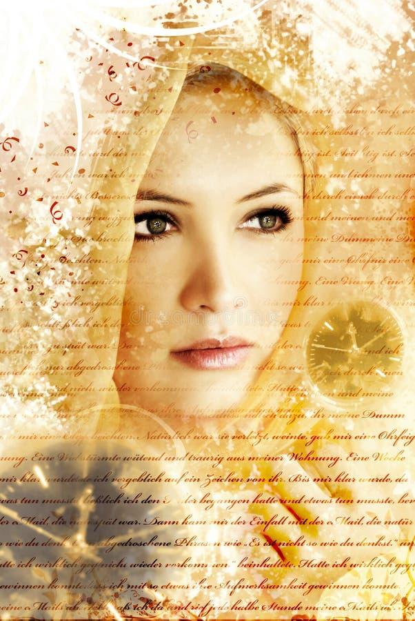 artistic beauty portrait stock image