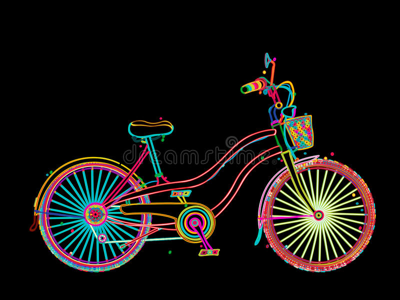 Artistic bicycle royalty free illustration