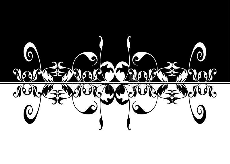 Artistic black white mirror image stock photos