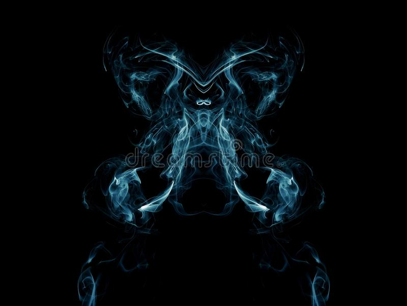 Artistic blue smoke vector illustration