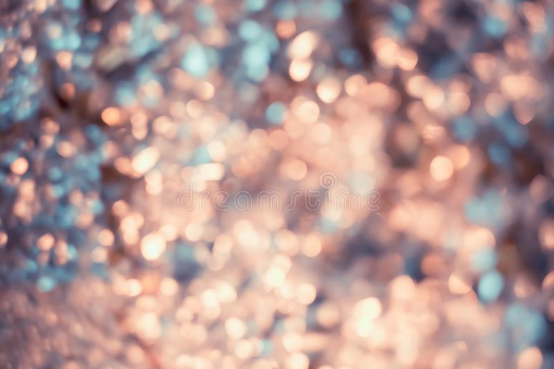 Artistic bokeh. Blurred beautiful colorful background of crumpled foil. Art photography of a texture for festive backdrops royalty free illustration