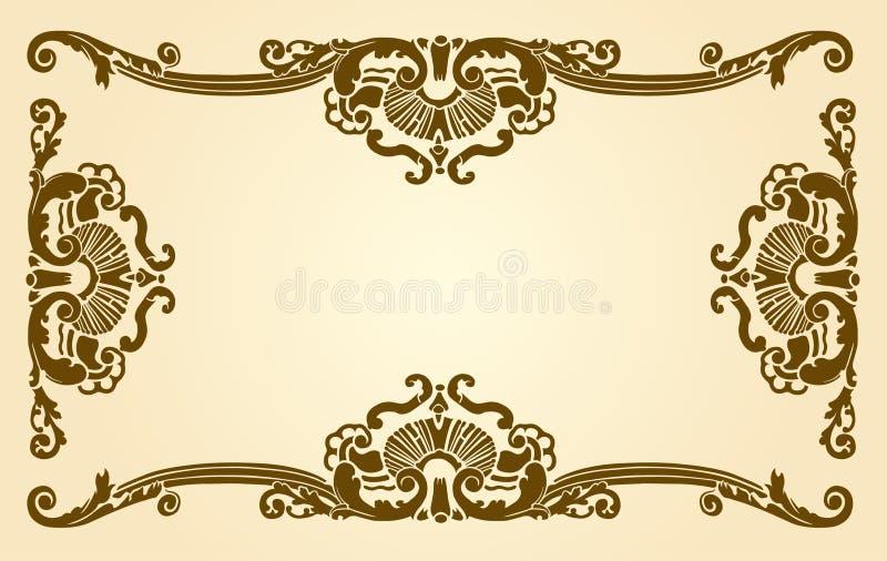Download Artistic border stock illustration. Image of brownish - 1422699
