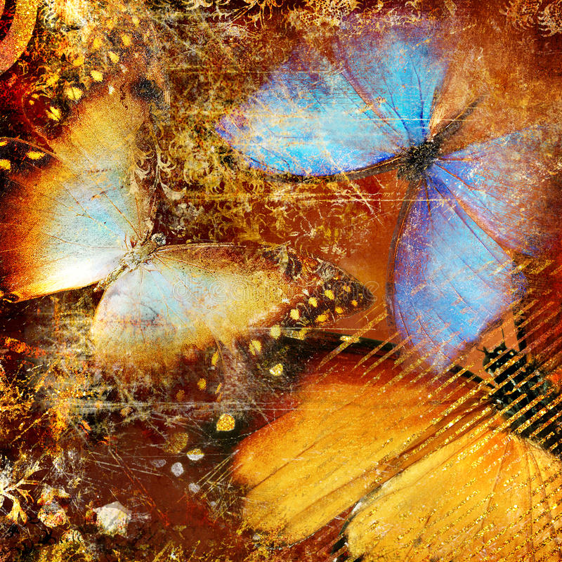 Artistic Butterflies Stock Images