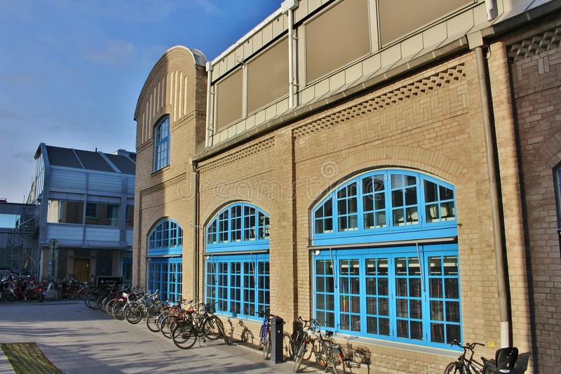Artistic campus, Umeå University. The Academy of Fine Arts, Design College, Art School, Bildmuseet and Humlab-X are on a joint campus at Umeälven royalty free stock photos
