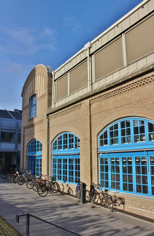 Artistic campus, Umeå University. The Academy of Fine Arts, Design College, Art School, Bildmuseet and Humlab-X are on a joint campus at Umeälven royalty free stock photography