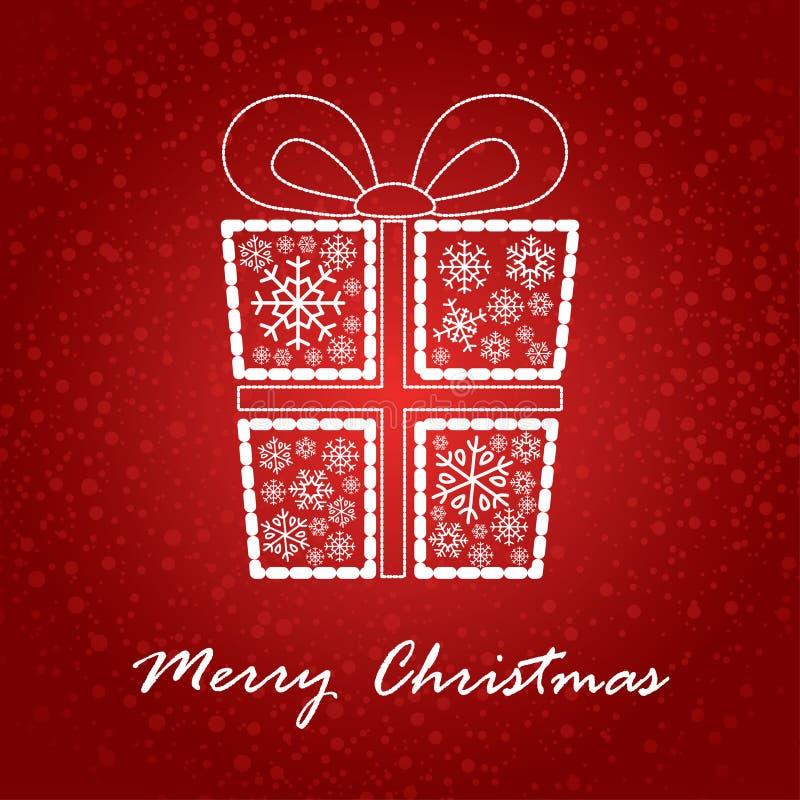 Artistic christmas card royalty free illustration