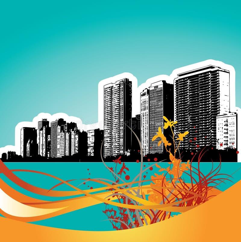 Artistic City Background vector illustration
