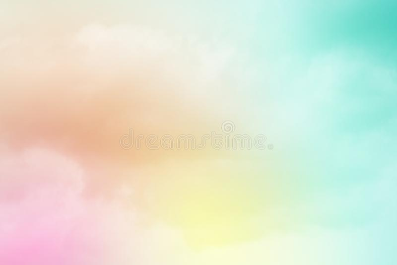 Artistic cloudy sky with gradient color , nature abstract background. Artistic cloudy sky with pastel gradient color , nature abstract background stock photography