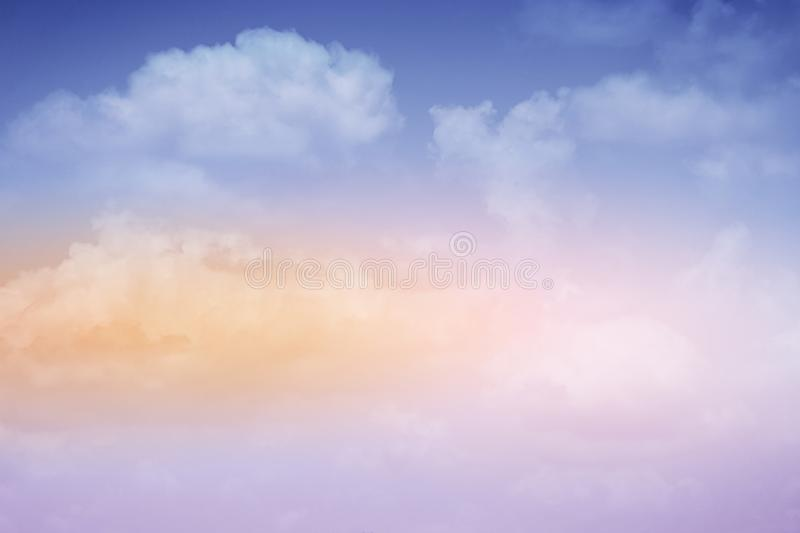 Artistic cloudy sky with pastel gradient color, nature background. Artistic cloudy sky with pastel gradient color, nature abstract background royalty free stock image