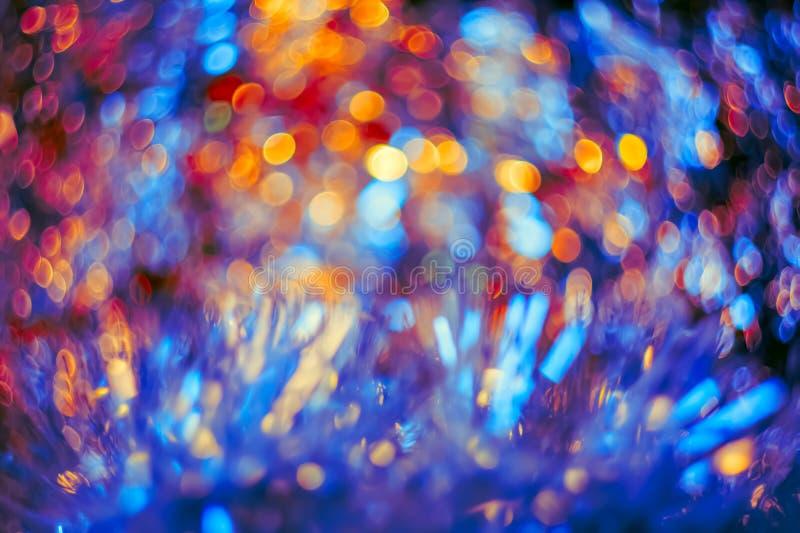 Artistic colorful bokeh created.Toned image stock illustration