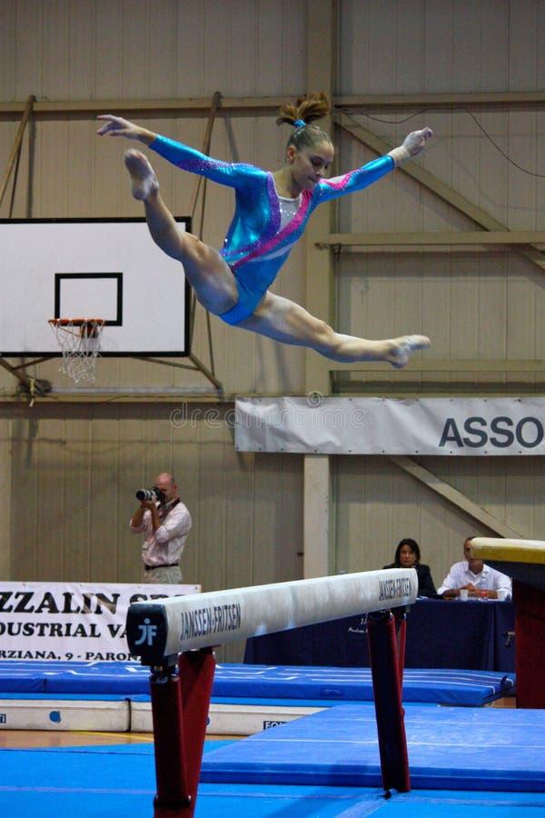 artistic competition gymnastics international στοκ φωτογραφίες