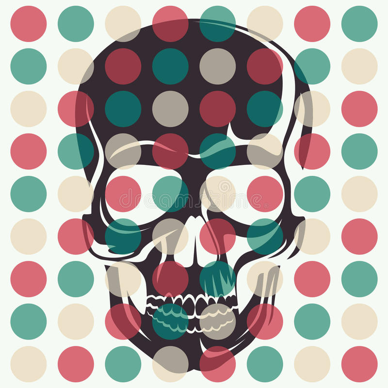 Artistic concept with skull. royalty free illustration