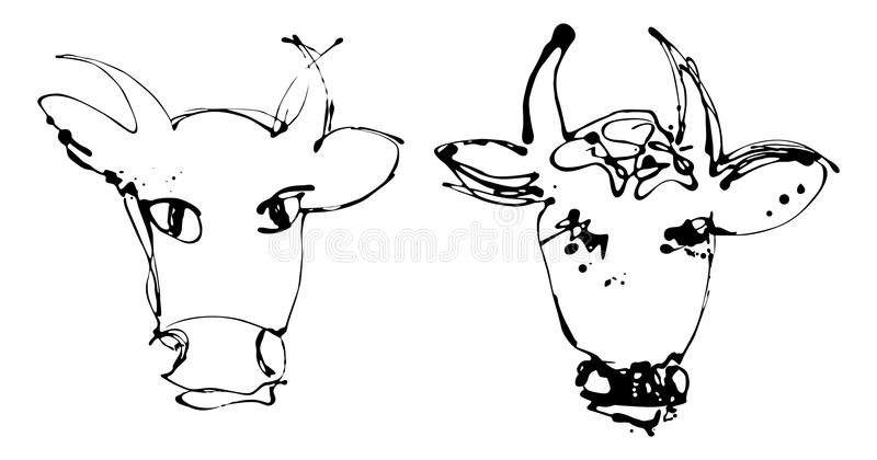 Download Artistic cow - version stock vector. Illustration of liquid - 22122195