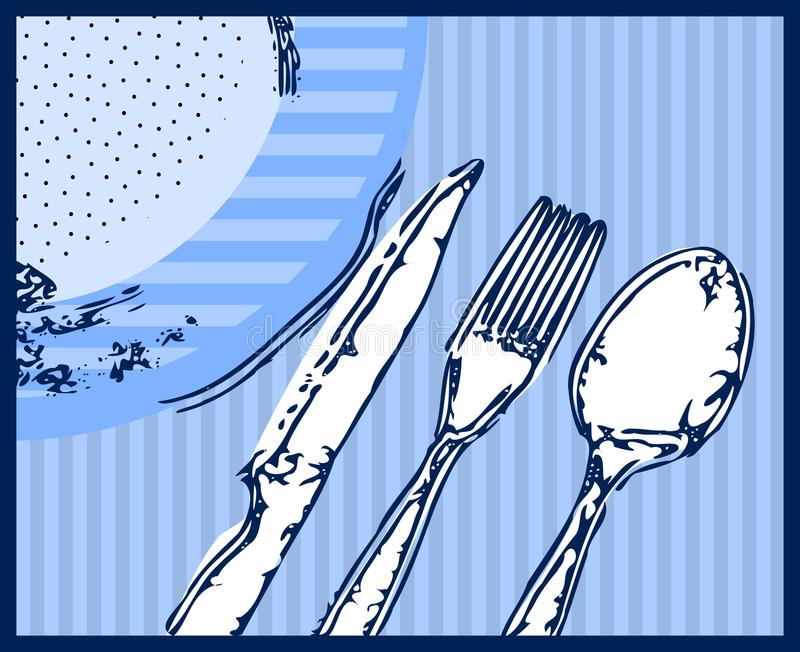 Artistic Cutlery Royalty Free Stock Photography