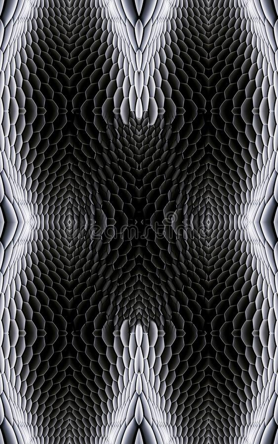 Artistic 3d computer generated unique smooth black and white fractals patterns background. Artistic 3d computer generated modern smooth black and white fractal vector illustration