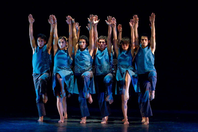 Artistic dancers from the National Dance Academy stock image