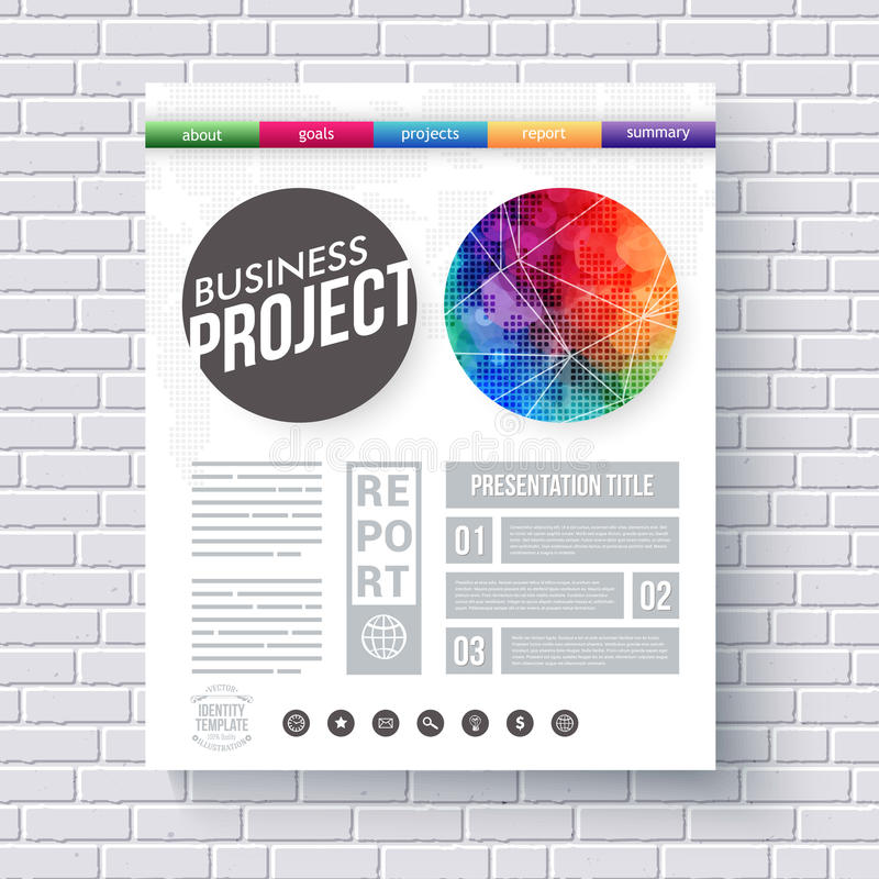 Project design template stylish business project proposal templates artistic design template for a business project stock vector cheaphphosting Image collections
