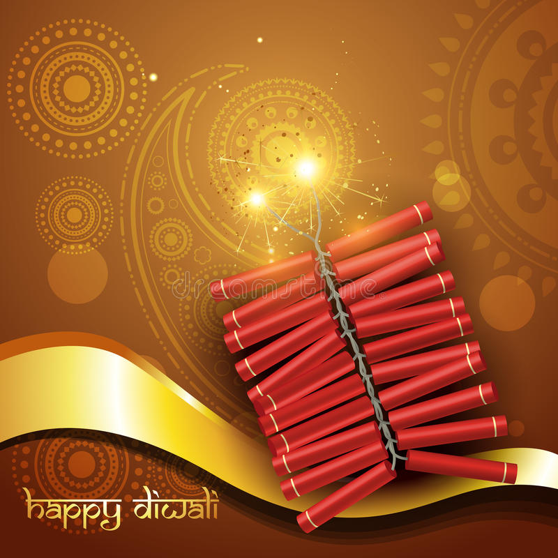 Artistic Diwali Crackers Royalty Free Stock Photography