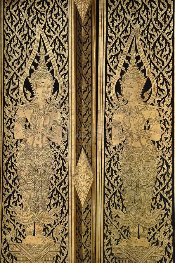 Artistic Door at Wat Pho. Thailand stock photos