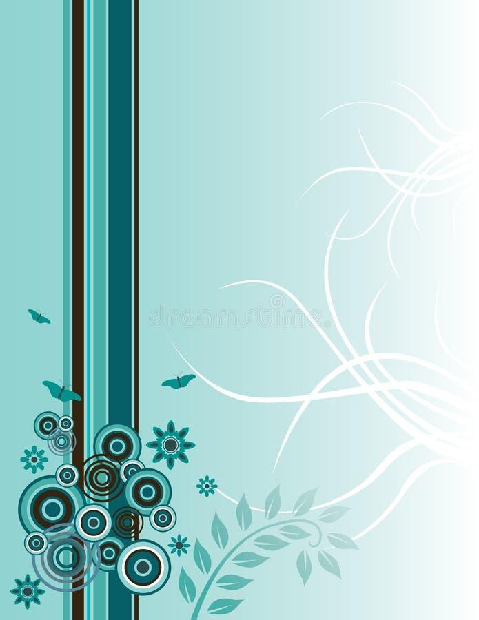 Artistic floral background vector illustration