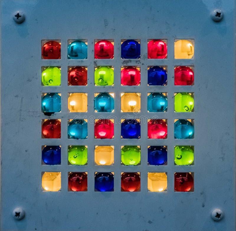 Artistic Glass Art Lighting Decorative Panel stock photos