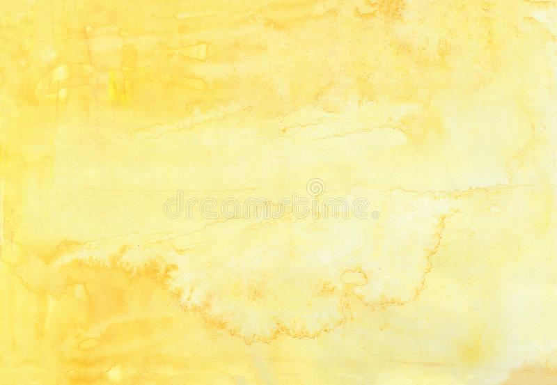 Abstract watercolor yellow background, raster illustration card vector illustration