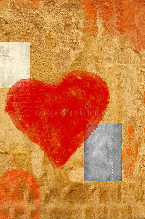 Download Artistic heart stock illustration. Image of painted, greeting - 21896518